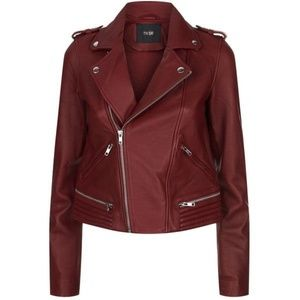 ❤️Auth MAJE Red Real Leather Jacket New Size 36❤️